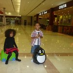 Little jet setters at Muscat Airport
