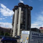 very strange apartment building, constructed in 1969. Near our hotel