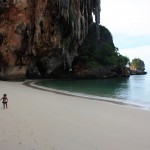 Nikiwa kwenye one of the best beach in the world Railay Beach Krabi summer holiday 2009