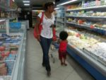 with my mummy shopping in Dar 2009