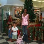 With Aunt Flora & bro Amani in Mlimani City Mall Dar es Salaam Dec 2009