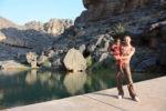 Skye & Malaika at Wadi Damm Oman