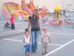 With Aunt Flora and Amani ndani ya play ground Qurum City Center Muscat