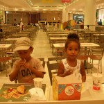 Enjoying Mc Donald with my brother Amani, Qurum City Center Oman