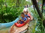 With my brother Amani in Canoe Dream World Bangkok summer holiday 2010