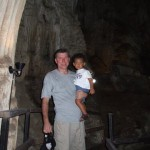 Amani with daddy at Railay Cave