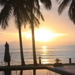 Beautiful sunrise at Thanya Beach Resort