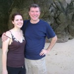 My hubby with his daughter Jenny at Railay beach
