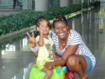 With Malaika at Krabi Airport