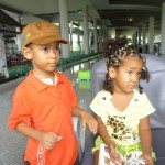Amani & Malaika at the Krabi Airport