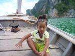 Malaika in the boat