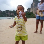 At Railay beach