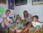 With my family in a Rastafaaian bar. It was much fun