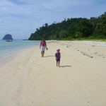 Beautiful beach, Malaika & I