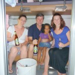 Hubby, Hayley, Skye & Malaika ndani ya train tuliamua kupata another adventure by kutumia overnight train from Thanya to Bangkok