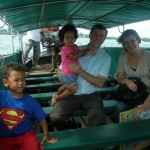 We're in the boat on our way to Krabi town