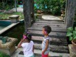 Amani & Malaika enjoy the hotel garden