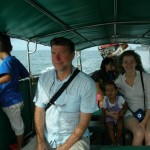 Hubby, Skye, Malaika & Amani in the boat on our way to Krabi town