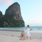 Amani's having fun at Railay Beach