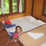 Amani & Malaika inside our Tree House