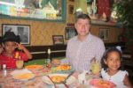 My family at Mexican restaurant