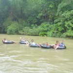 The family tubing around Sok River