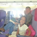 Hubby & Malaika in Thai Airways from Phuket to Bangkok