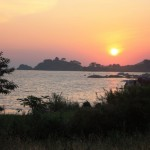 Sunset in Burere Village