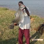Mvuvi wa samaki kijijini Burere, jamani sijui huyu Sangara au Sato
