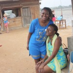 With baby sis Tina at Slipway on our way to Bongoyo
