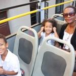 Town bus tour around Madrid