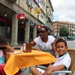 Having lunch in Segovia, Spain