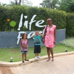 With my mummy and Amani at Life Park, Greenery Resort
