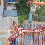Having fun in the pool with my daddy. Greenery Resort