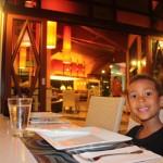 Amani at the restaurant