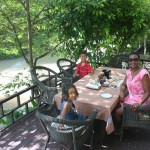 With my family enjoy our breakfast