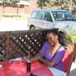 Baby sis akiwa Calman Cafe, Dodoma