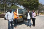 Group nzima ya safari yetu, kutoka kushoto Hassan, Flora, Hamis na Tina. Dodoma