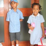 On our way to school with my brother Amani. He is going to be Year 1
