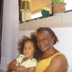 Malaika with her bibi mkubwa at Jaki place