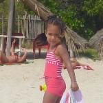 Malaika wangu akiwa Kipepeo beach