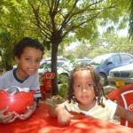 Malaika & Ryan tukiwa lunch pale Rose Garden