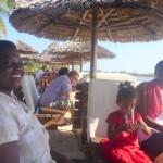 At Slipway Dar es Salaam with aunt Judy & Flora.