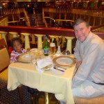 Having dinner with my daddy ndani ya Cruise Ship