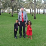 With Daddy & Amani on Xmas day