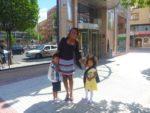 Siku ambayo tuliyofika tukiwa nje ya hotel tuliyofikia Madrid, Spain
