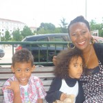With my mummy & brother Amani in Madrid