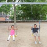 Tuko park in Madrid with Amani