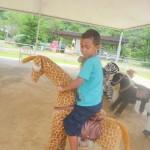 Amani having fun