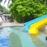 And here he comes splash! My Amani